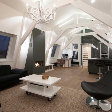 Het Droogbak Appartement in Amsterdam is ontworpen door interieurontwerper Cris van Amsterdam.