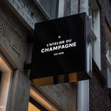 L'atelier Du Champagne is ontworpen door interieurontwerper Cris Van Amsterdam.